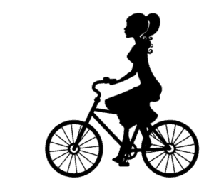 cartoon-woman-cycling