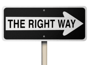 right way sign