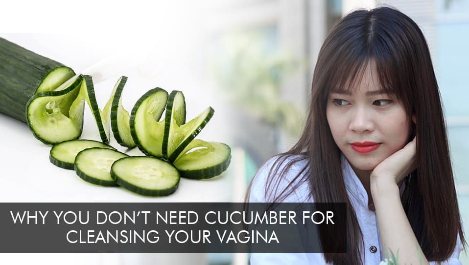cucumber and woman